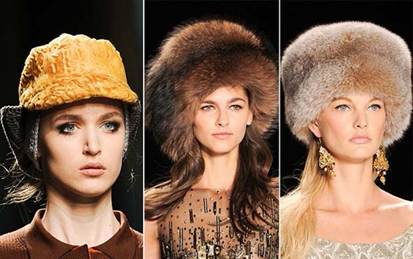 меховые шапки осень-зима 2015-2016