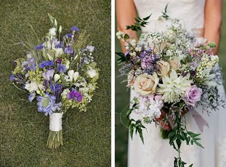 модные свадебные букеты 2016, микс из разных цветов 2