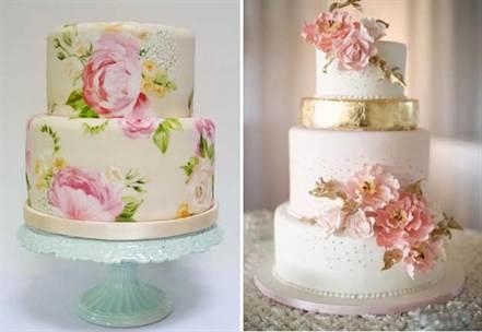 свадебные торты украшенные цветами 2