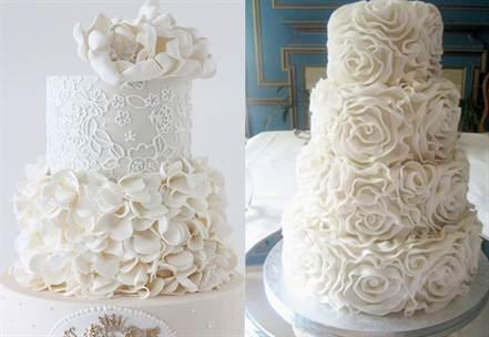 свадебные торты украшенные цветами 3