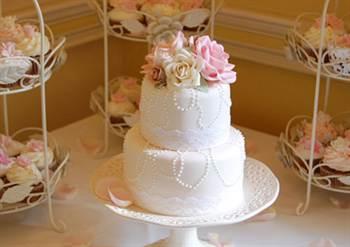 двухъярусные свадебные торты, фото 2016 2