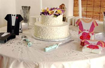 двухъярусные свадебные торты, фото 2016 3
