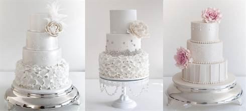 трёхъярусные торты на свадьбу 2016, фото 1