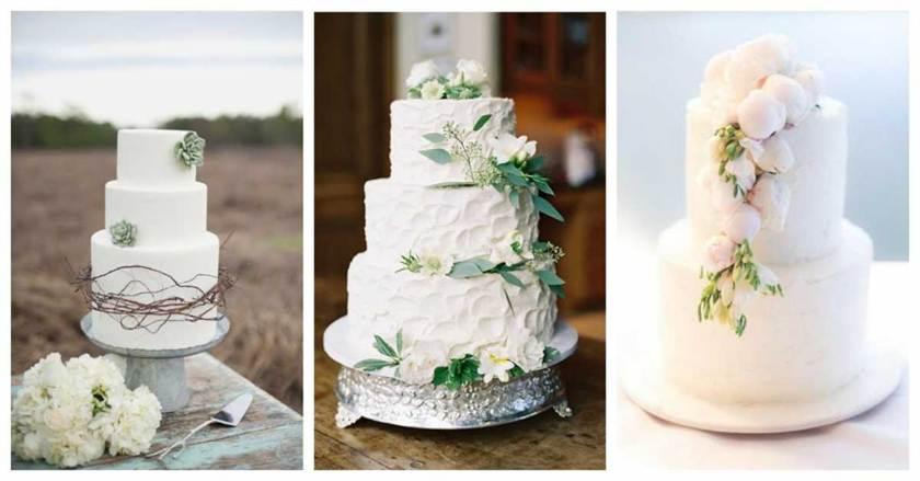 трёхъярусные торты на свадьбу 2016, фото 3