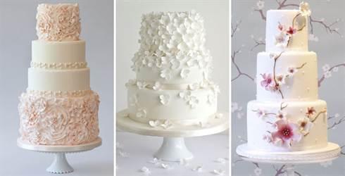 трёхъярусные торты на свадьбу 2016, фото 4