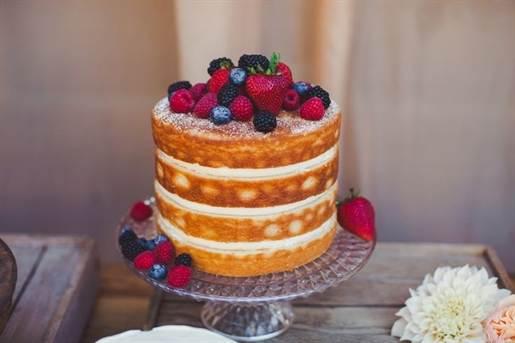 свадебный торт 2016 без мастики 1