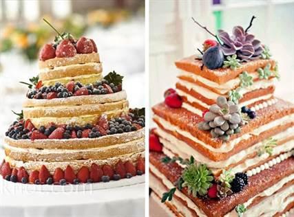 свадебный торт 2016 без мастики 2