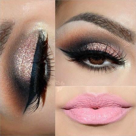 вечерний макияж, фото новинки 2016 12