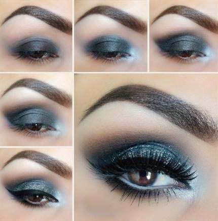 вечерний макияж, фото новинки 2016 10