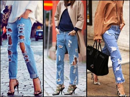 модные рваные джинсы весна-лето 2016