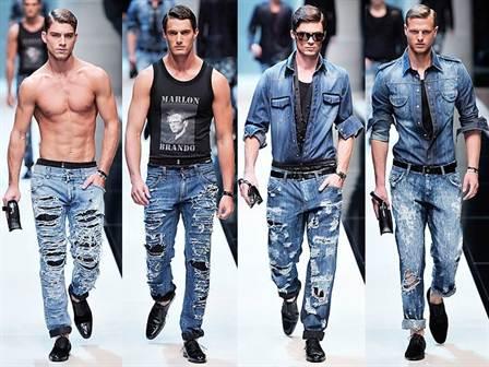 мужские рваные джинсы 2016, фото 1