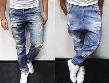 мужские рваные джинсы 2016, фото 2