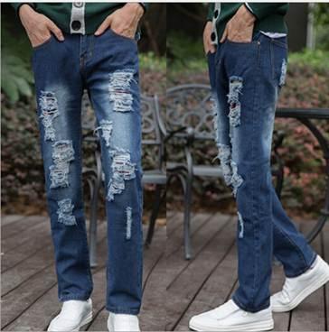мужские рваные джинсы 2016, фото 3