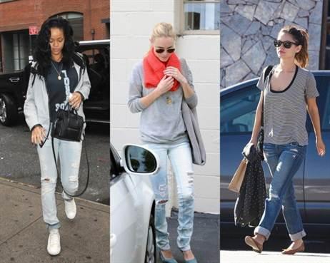 рваные джинсы 2016 года на фото 1