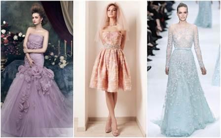 модные цвета свадебных платьев весны и лета 2016 8