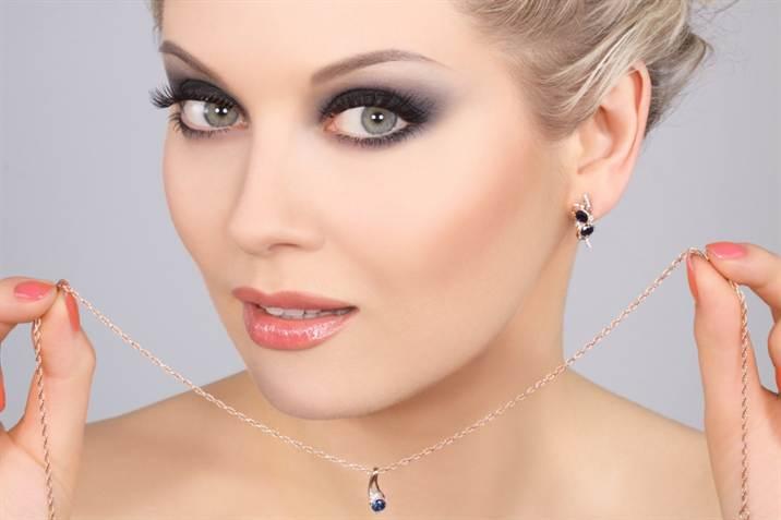 Свадебный макияж для серых глаз 1