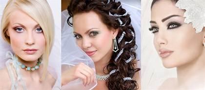 свадебный макияж для серых глаз 2