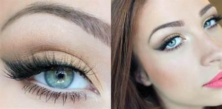 свадебный макияж для голубых глаз 1