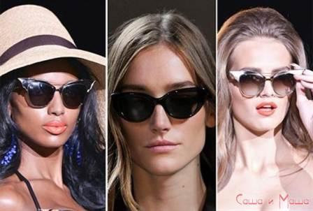 женские солнцезащитные очки весна-лето 2016, модные и стильные на фото 1