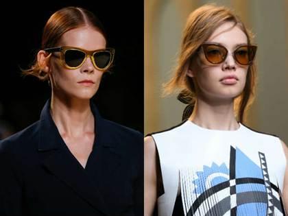 модные солнцезащитные очки фасона «бабочка» и «кошачьи глазки» на фото 1