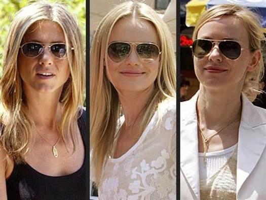 модные солнцезащитные очки фасона «авиаторы» на фото 2