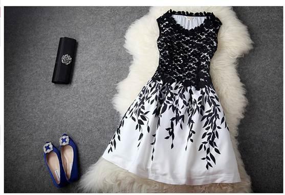 монохромные вечерние платья 2