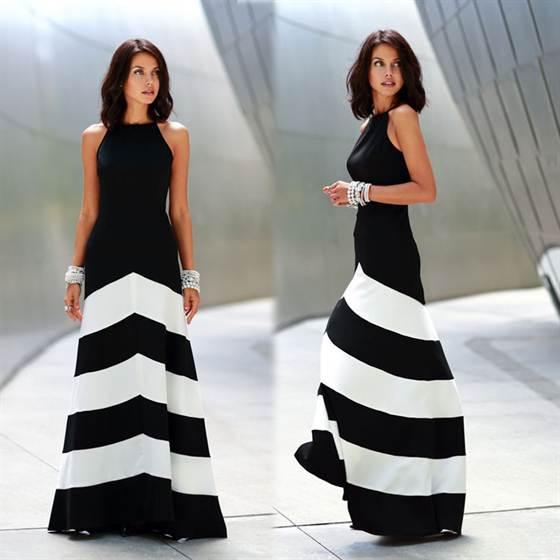монохромные вечерние платья 3