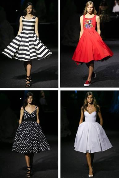 вечерние платья в стиле ретро 1