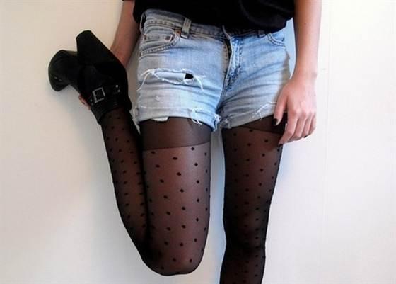 образы с джинсовыми шортами