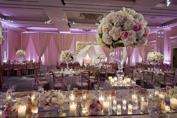 Image of a beautifully decorated wedding ballroom