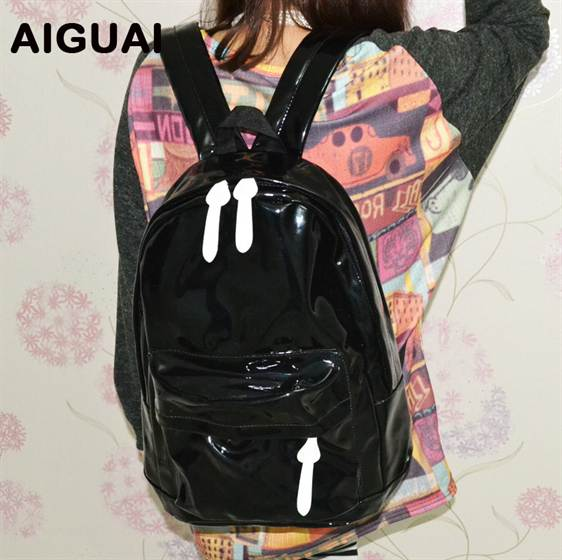 free-shipping-hot-sale-2012-women-man-casual-solid-color-pu-backpack-school-bag-lady-f224