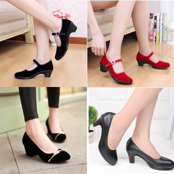 Модные женские туфли на низком каблуке