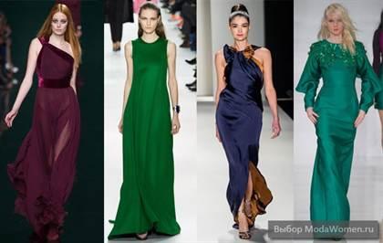 модные цвета платьев