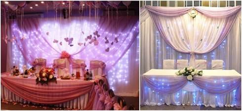 декор стола на свадьбу