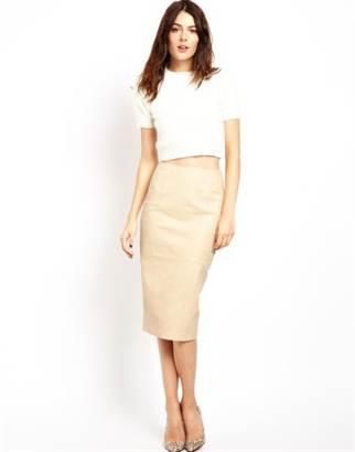 бежевая юбка карандаш: с чнм носить