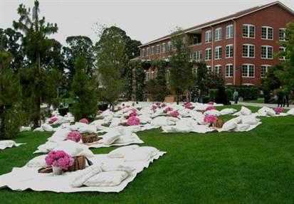 свадьба летом на природе пикник