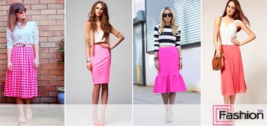 с чем осить розовую юбку