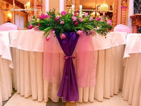свадьба в фиолетовм цвете