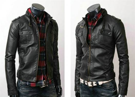 nwt-men-s-punk-bomber-biker-motorcycle-slim-fit-faux-pu-leather-jacket-blazer-short-coat