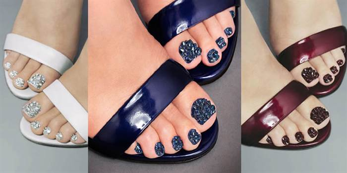 The Ultimate Glamour - Nails Inc. Jewellery Pedicure with Swarovski Elements