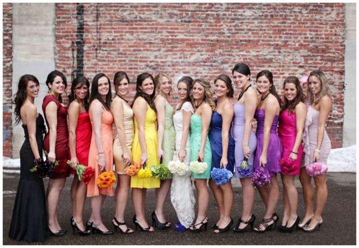 11_bridesmaids-dress-colors-for-winter-before-the-big-day-rainbow-wedding-theme