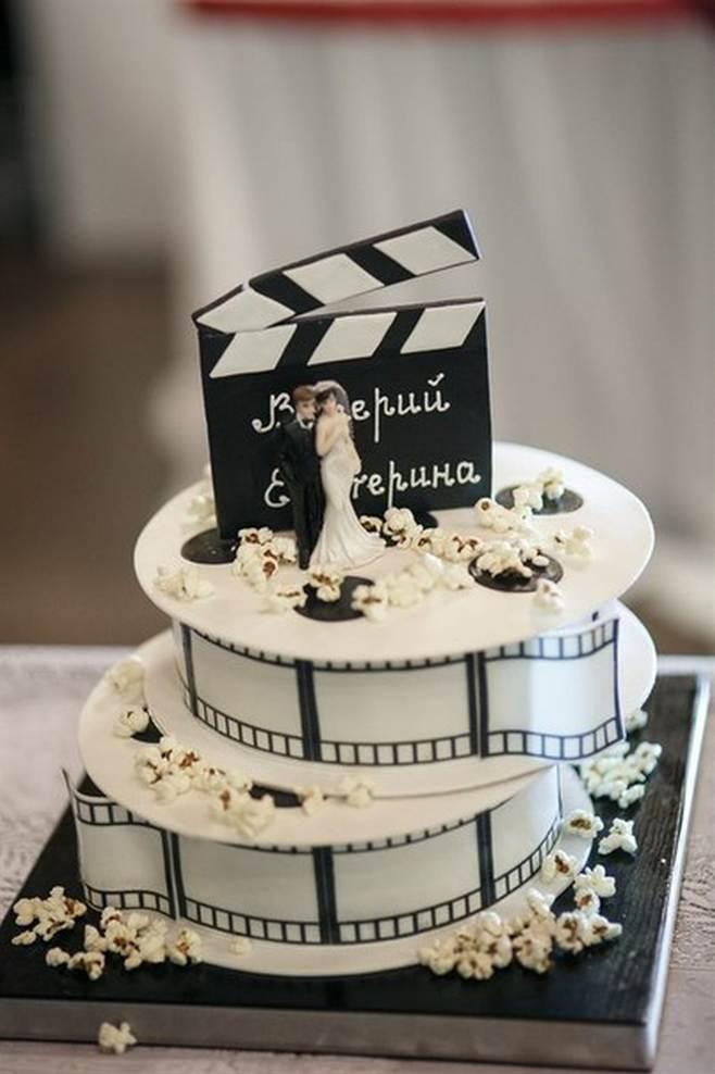 Открытка с днем рождения в стиле кино